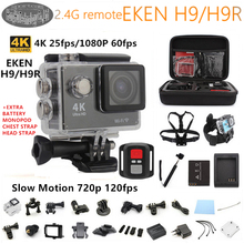 Original EKEN H9R Acción cámara Ultra HD 4 K WiFi 1080 P/60fps 2.0 «LCD 170 lente Casco min Cámara go pro estilo impermeable pro cámara