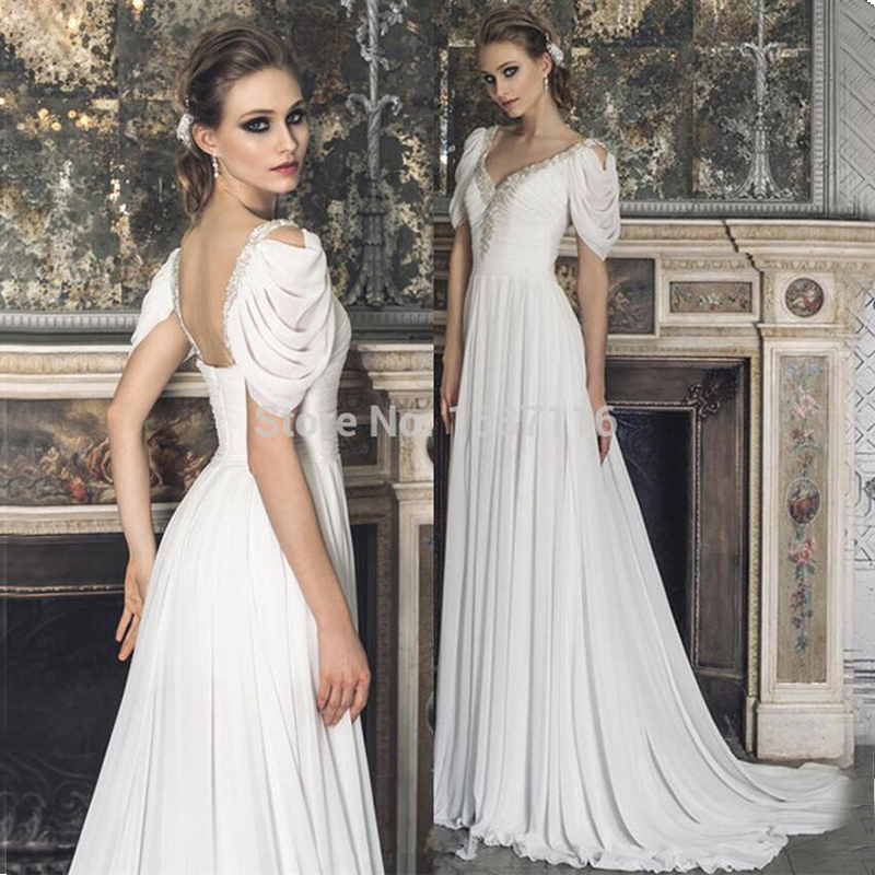 Custom made 2016 new sexy spring summer bridal gowns a for Short white summer wedding dresses