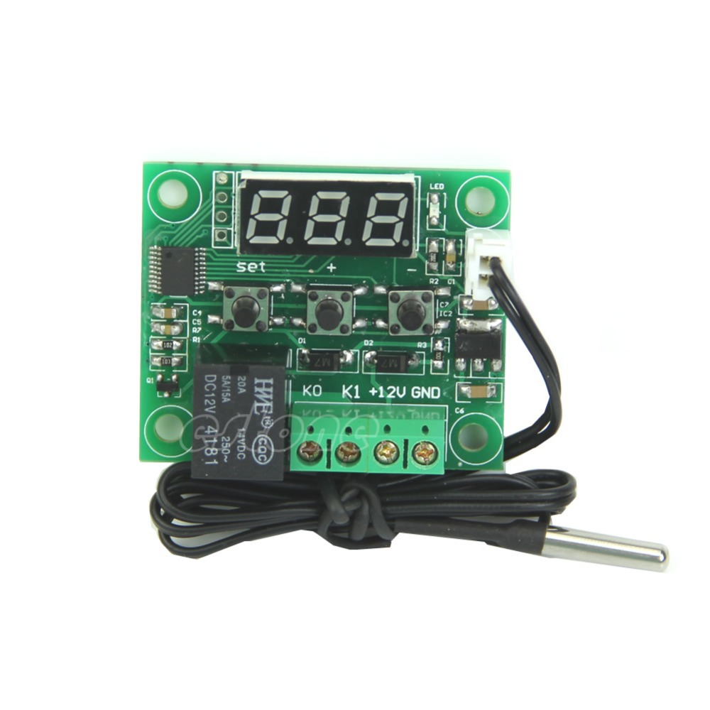 Гаджет  Digital Heat Cool Temp Thermostat Temperature Control Switch 1PC DC12V -50-110 Centigrade degree Free Shipping None Инструменты