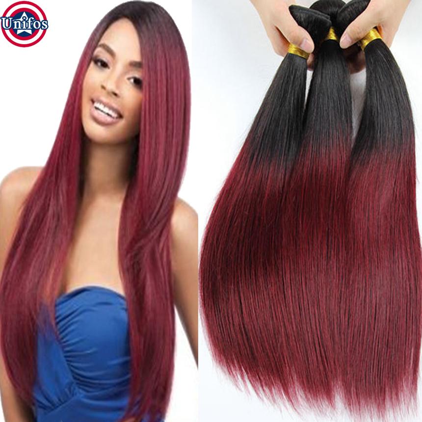 Burgundy Ombre Hair Straight