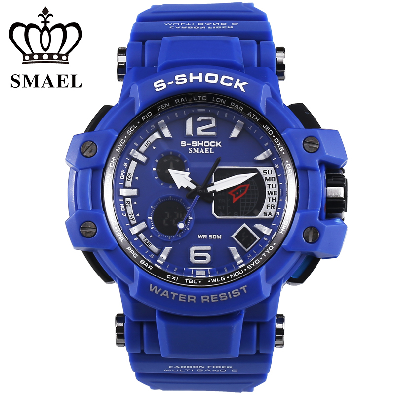 2016 New Relogios Masculino Outdoor display Sports Watches kids Men LED Digital Multifunction Men's Military Wristwatch Fashion(China (Mainland))