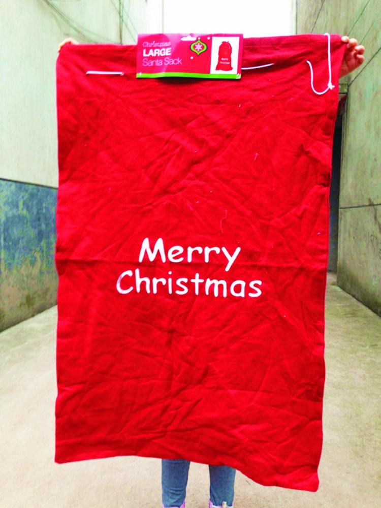 Pcs cm large christmas santa sack felt bag
