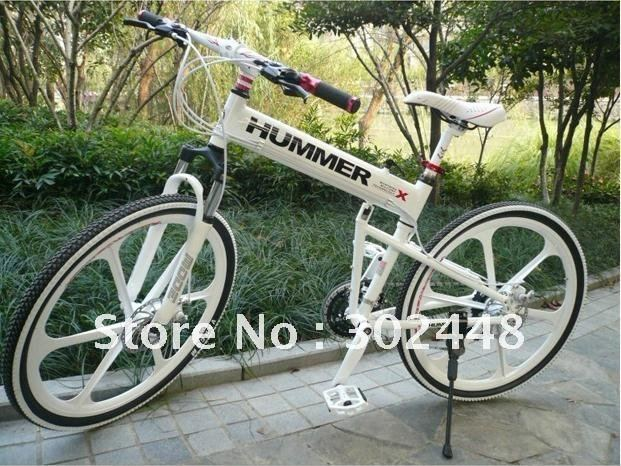 """Wholesale New Design! cheap Latest Cool Hummer 26"""" Aluminium Alloy Foldable Mountain Bike at 24 Speed"""