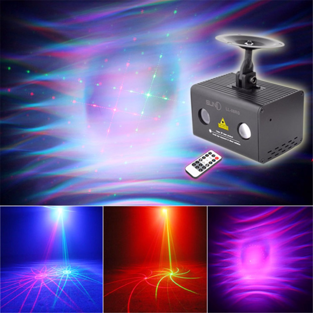 IR Remote 8 Patterns RG Laser Lighting Xmas Water Galaxy RGB LED Stage Light Projector Mix Aurora Effect Party DJ Home LL-08RG(China (Mainland))