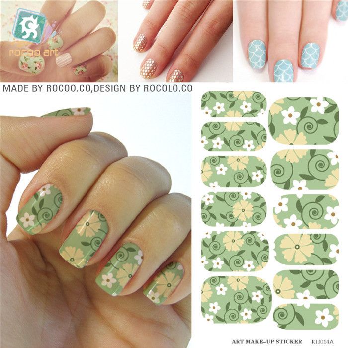 manicure material adhesive foil nail sticker Full Cover Solvent Resistant Decals water transfer nail sticker Patch Decorations(China (Mainland))