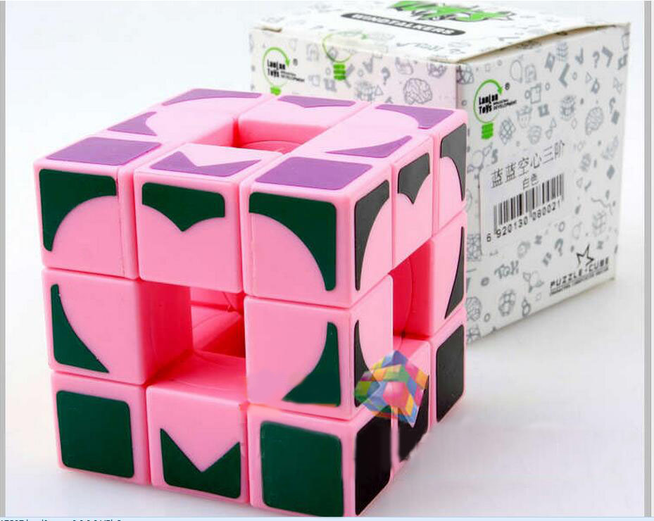 3x3x3 magic cube Pink Love cube hollow puzzle cube irregular novelty educational toys gifts(China (Mainland))