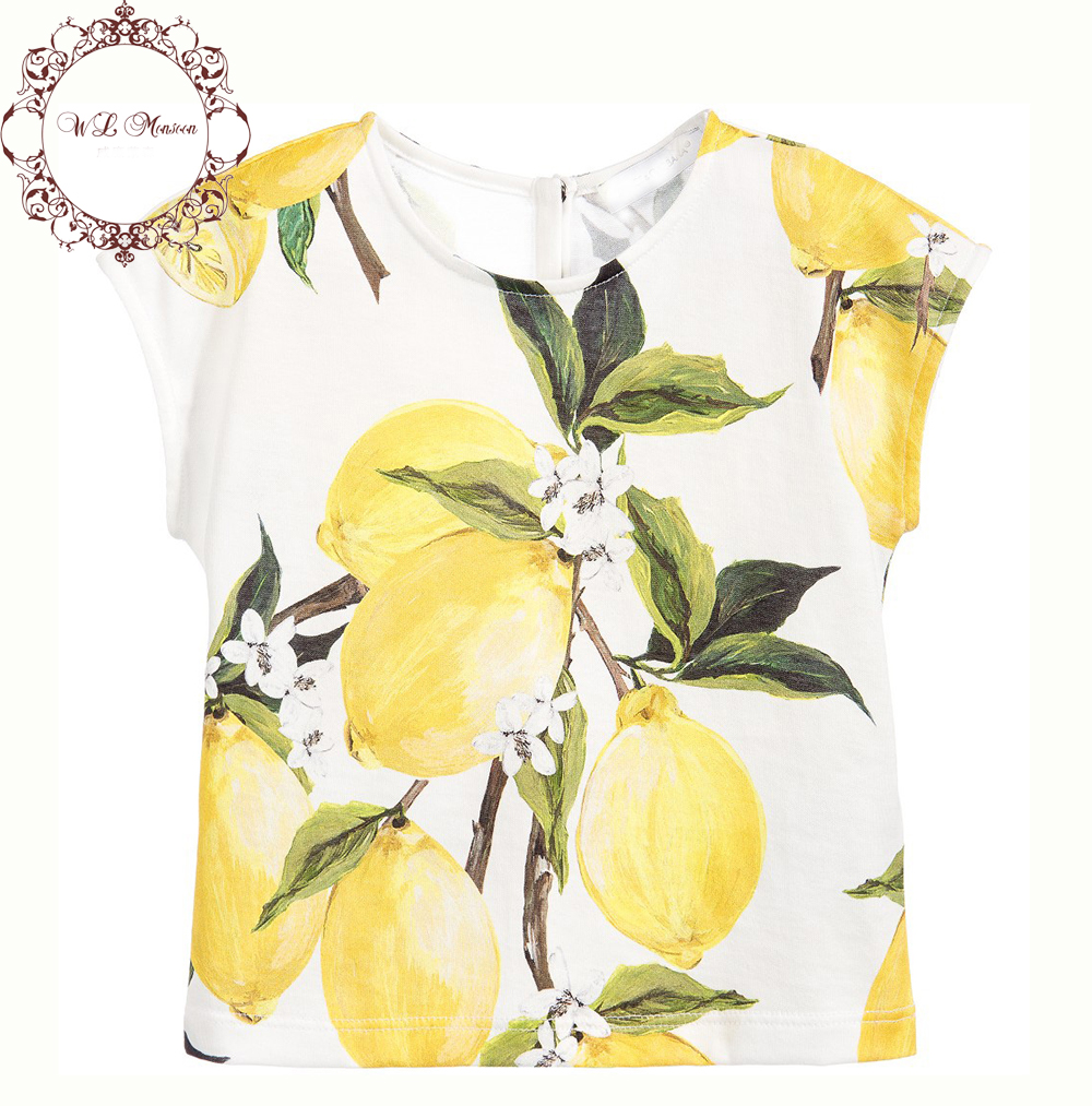 Milan Creations Kids Tshirt Girls Tees 2016 Brand Summer Girls T shirts Children Clothing Lemon Print Kids Clothes Girls T-shirt<br><br>Aliexpress