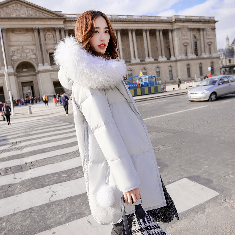 Korean Latest Fashion Big yards Women Winter Coat Thick Warm Duck down Down jacket Hooded Fur collar Loose Casual Jacket G0510Одежда и ак�е��уары<br><br><br>Aliexpress