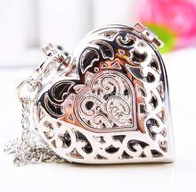 10 pcs /lot Fashion women quartz Fashionable dress collocation Heart-shaped necklace pocket watch(China (Mainland))