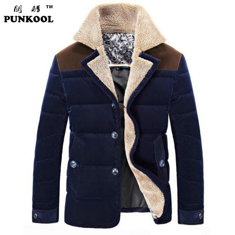 New Fashion Men Down Jacket Winter Mens Casual Fur Collar Downs Jackets Coat Men Turn-down Collar Warm Down Overcoat M~3XL 234Одежда и ак�е��уары<br><br><br>Aliexpress