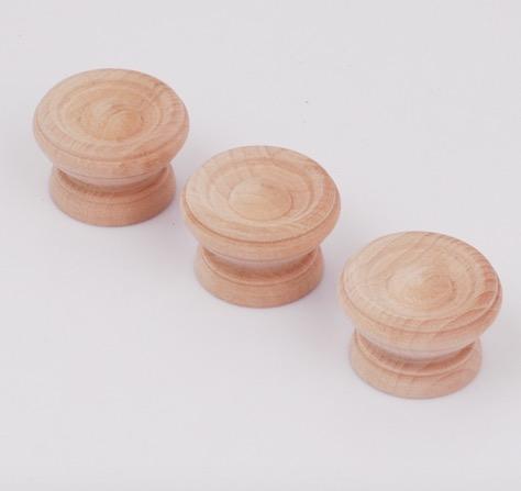 38x25mm--Wood handle knob handle mushroom shaped cabinet logs Garden decro(China (Mainland))