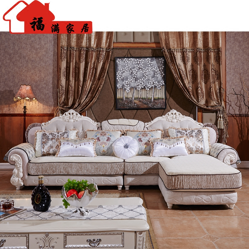Popular European style living room furniture sectional sofa set in high quality fabric U02 free shipping(China (Mainland))