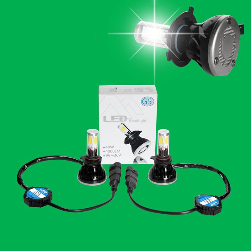 DHL/Fedex 20Sets Automobile Headlight H1 H3 H4 H7 H11 9004 9005 9006 9007 5202 Car LED Headlight Bulbs(China (Mainland))