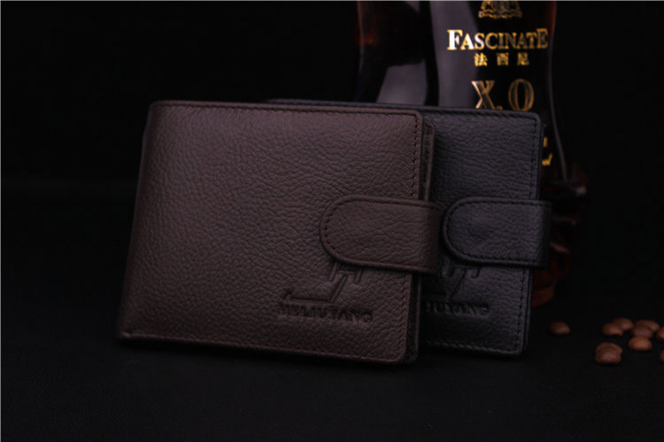 2016 new mens head layer cowhide wallet   litchi grain leather wallet coin bag<br><br>Aliexpress