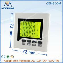 Me-3aa6y рама размер 72 * 72 мм три фазы жк-дисплей переменный ток цифровой амперметр, Для промышленное использование