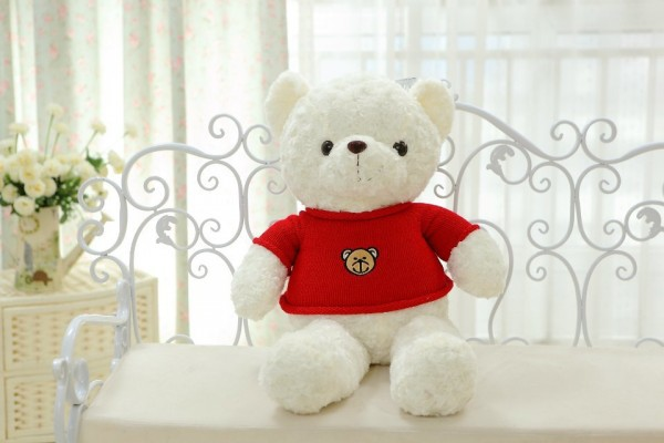 huge lovely teddy bear doll red sweater white bear toy cute birthday gift about 120cm<br><br>Aliexpress