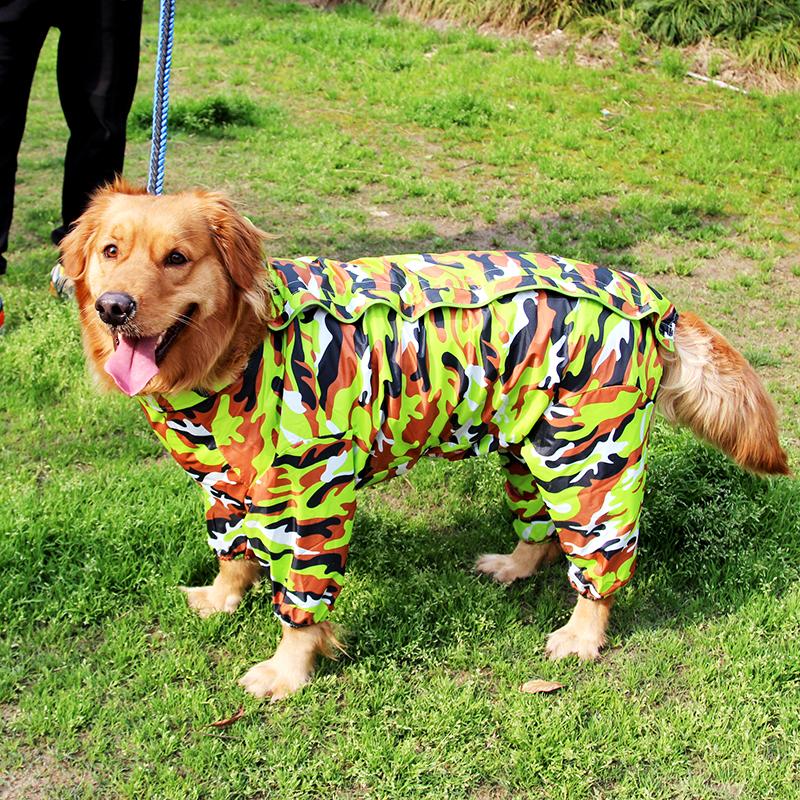High Quality Fashion Camouflage Waterproof Big Dog Raincoat Clothes Raincoats for Large Dogs(China (Mainland))