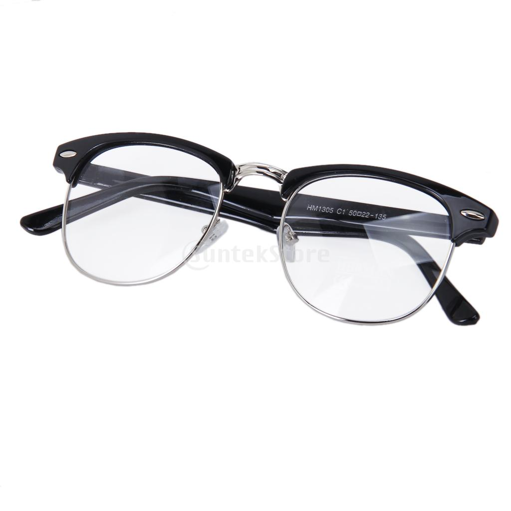 Square Framed Fashion Glasses : Retro Fashion Metal Frame Clear Lens Square Sunglasses ...