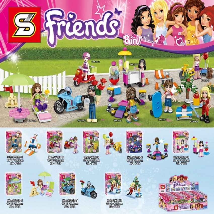 Monster School Girl Friends With Motorcyle Super Heroes Building Blocks Bricks Education Learning Toys for children Gift SY628(China (Mainland))