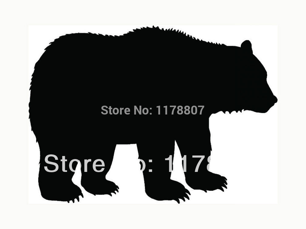 Bear Sticker For Car Rear Windshield Truck SUV Bumper Auto Door Laptop Kayak Canoe Art Wall Die Cut Vinyl Decal 8 Colors(China (Mainland))