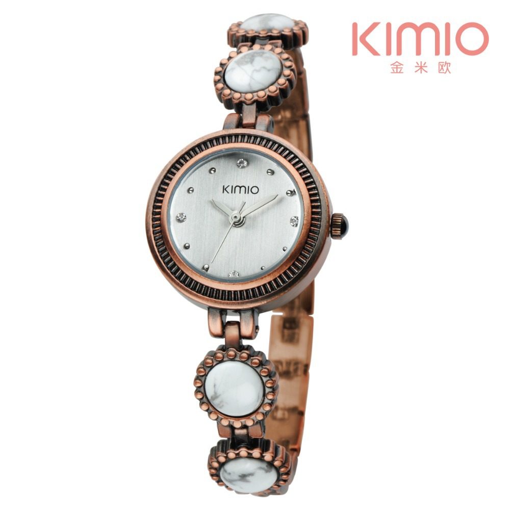 2015 Christmas Arrive KIMIO Brand Watch Women Stainless Steel Crystal Wrist Watch Women Ladies Retro Ceramic Watch(China (Mainland))