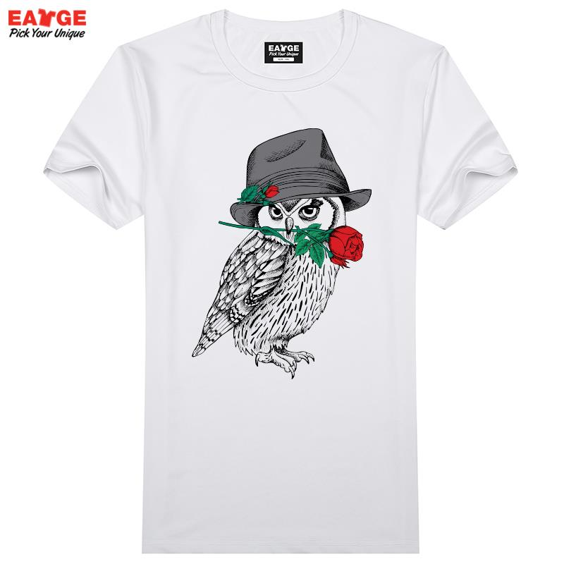 Mystery Owl T Shirt Design A Bird Of Minerva Creative T-shirt Cool Novelty Funny Tshirt Style Men Women Printed Fashion Top Tee(China (Mainland))