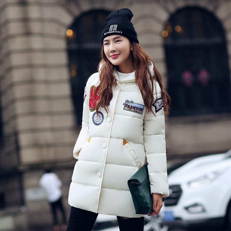 Скидки на Новый 2016 Толстые Женщины Куртка Плюс Размер пальто Зимние Женщины Пальто куртки Дамы Вниз Хлопка Куртки Снег Износ Мода Женский верхняя одежда
