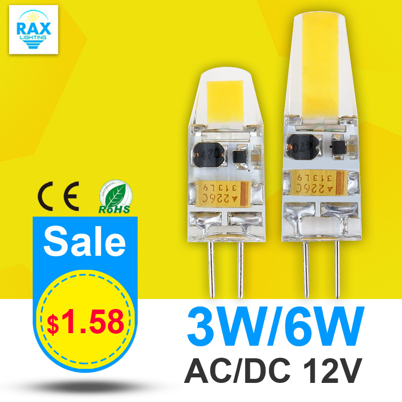 Mini G4 LED Lamp COB LED Bulb 3W 6W DC/AC 12V LED G4 COB Light Dimmable 360 Beam Angle Chandelier Light Replace Halogen G4 Lamps(China (Mainland))