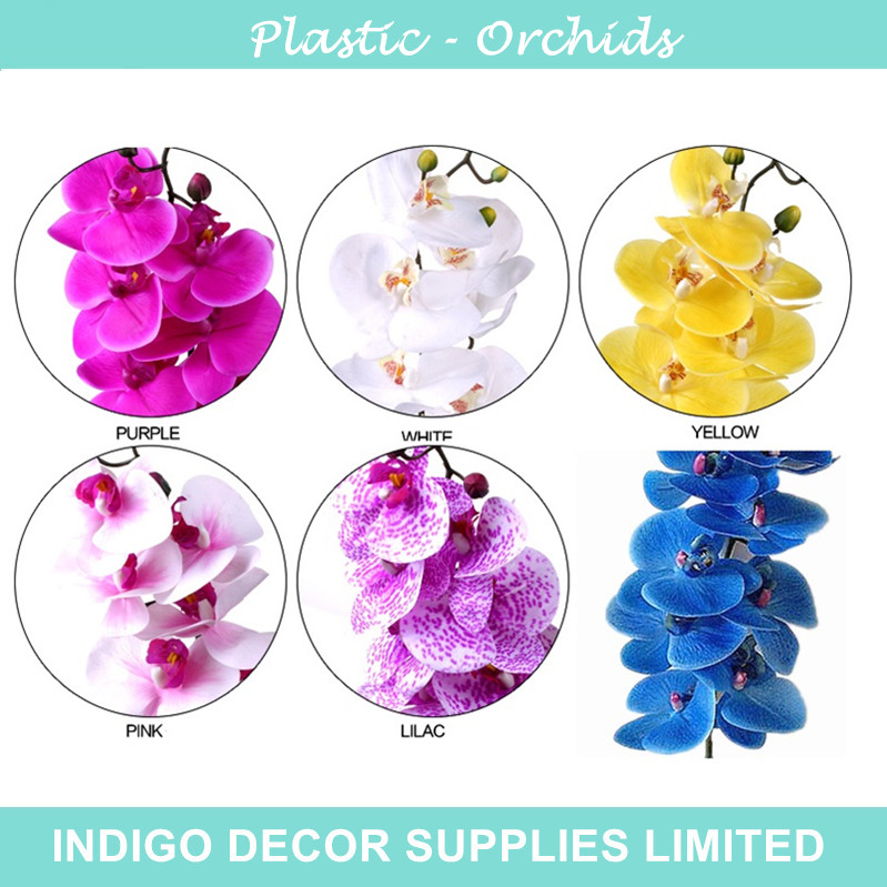 5pcs/Lot - Plastic Flower Real Touch Moth Orchid Butterfly Decorative Flower Artificial Wedding Flower Hotel Party Event Office(China (Mainland))