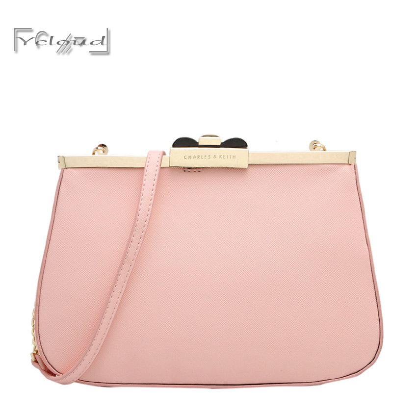 NEW fashion simple small fresh Ladies pink handbag women messenger shoulder bag temperament leather Shell package Free shipping<br><br>Aliexpress