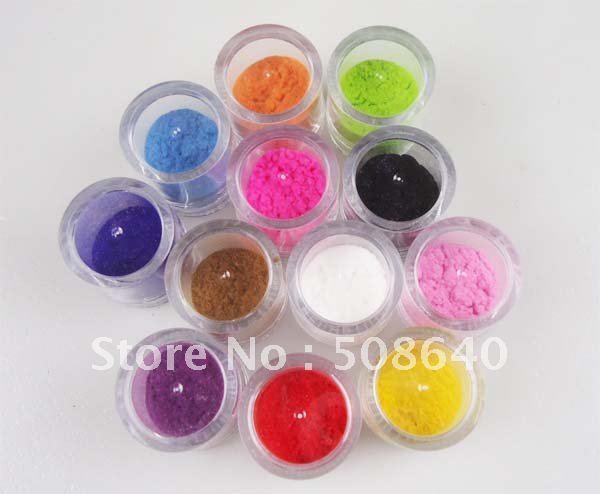 12colors Nail Plush 10gram/pcs Hot in Fall & Winter Plush Nails Material velvet Nail Art Beauty Salon  Decoration Powder 392