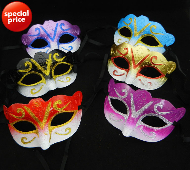 50PCS Promotion Gold Party Mask Venetian Masquerade Ball Decoration Mardi Gras Costume Birthday Gift(China (Mainland))