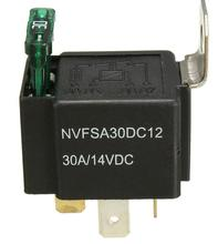 12V 30A Normally Open Contacts 30 Amp Car Bike Van Car Automotive Auto Fused On/Off 4 Pin Relay(China (Mainland))