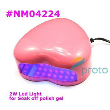 NEW 2W LED Light Nail Curing Lamp for Soak-off Gel Polish and Other Non-soak offs Retail SKU:E0095