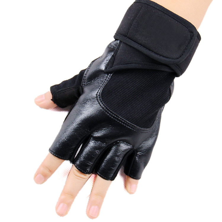 2014 HOT NEW Weight lifting Gloves Men Women Black Fitness Crossfit Bodybuilding Gym Grip Sports gloves