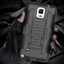 Future Armor Impact Hybrid Hard Mobile Phone Case For Samsung Galaxy S5 I9600 SV S4 I9500 SIV With Belt Clip & Kickstand Holster(China (Mainland))