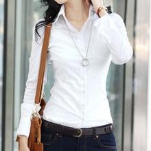 New Fashion women blouse slim blouse ol blouse long-sleeve women white blouse female white shirt spring and autumn(China (Mainland))