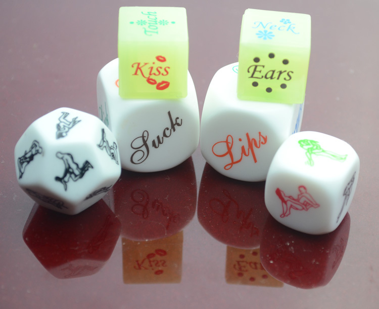 4 Kinds Glow Hot Sale Erotic Craps Sex Dice Night Lights Love Sexy Funny Flirting Toys for Couples Adult Games Products DEMix4(China (Mainland))