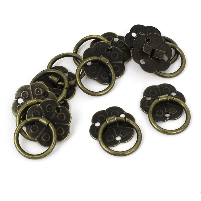 20mm Wrought Iron vintage Plum flower dresser drawer pulls ...