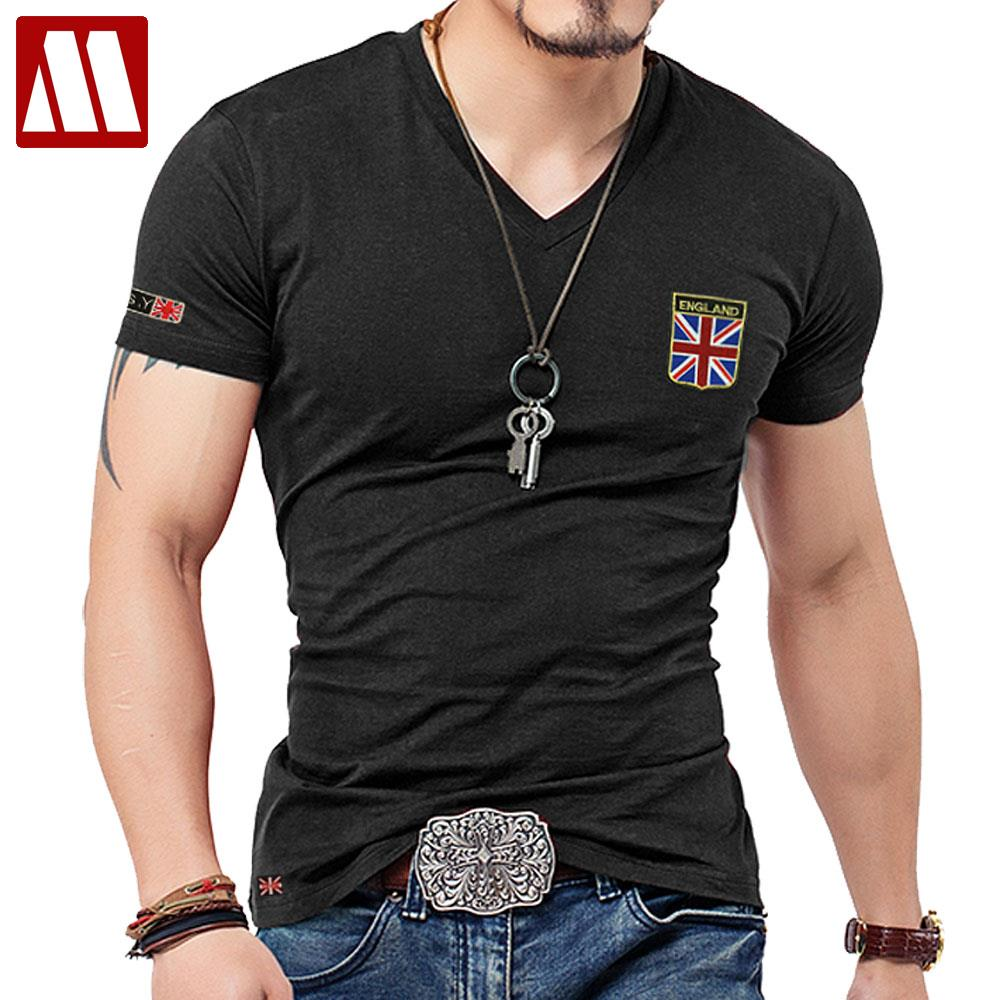 brand men t shirt cotton union jack clothing male slim fit tee shirt. Black Bedroom Furniture Sets. Home Design Ideas