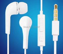 White Earphones Headphone Headset With Volume Control Microphone For Samsung Galaxy S2 S3 S4 Note 2 3