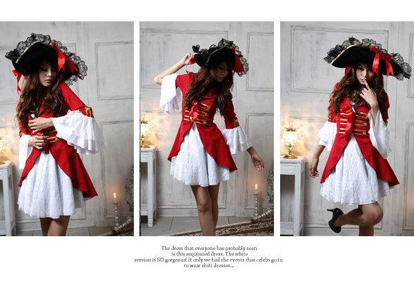 Free Shipping! Newest Christmas Hot Sexy Red Pirate Princess Costume for Cosplay, Nightclub bar and DS PartyОдежда и ак�е��уары<br><br><br>Aliexpress