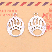 Buy 10 pcs/lot Bear Paw Charms Pendants Jewelry Making Vintage Antique Silver Plated DIY handmade 30*22mm for $1.93 in AliExpress store
