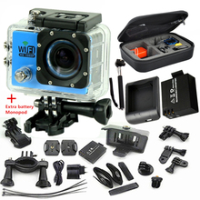 SJ6000 wifiI Action Camera 12MP HD 1080P 30FPS 2.0″LCD Diving 30M Waterproof Sport  DV sport Camera cam extra battery  charger