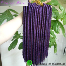 Different Colors Soft Dreadlocs Faux Locks Hair Extension 24strands/pcs Havana Mambo Twist Hair Jumbo Braiding Marley Hair