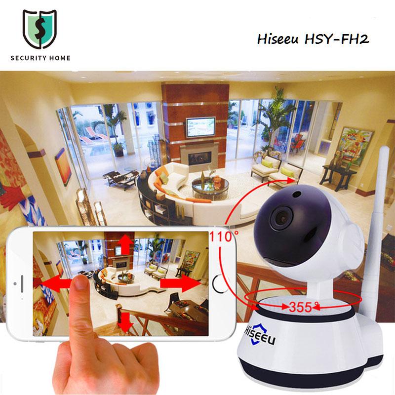 720P HD IP Camera Wifi Wireless Smart Security Camera IR-Cut Night Vision CCTV Camera Micro SD For Home Office Hiseeu HSY-FH2(China (Mainland))