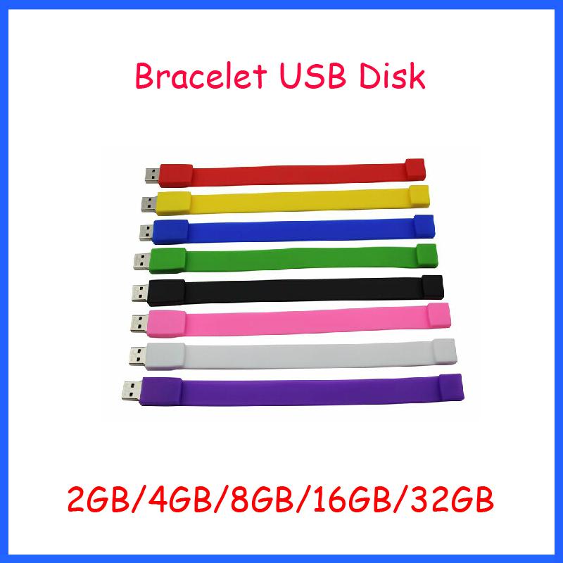 Free Shipping ! High Speed original chip usb flash silicon wristband usb bracelet USB Flash Drive 2GB 4GB 8GB 16GB 32GB USB(China (Mainland))