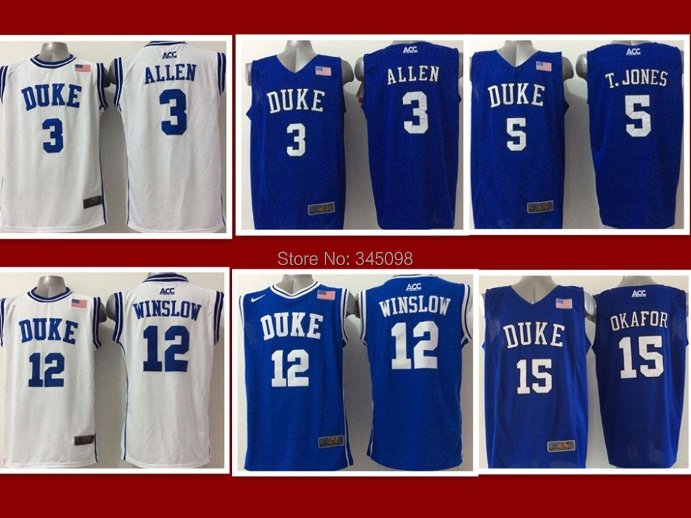 Wholesale Cheap,#3 Allen 5 Tyus Jones 12 Justise Winslow 11 Ellis Men's New NCAA Basketball Jerseys Sale,Embroidery logos(China (Mainland))