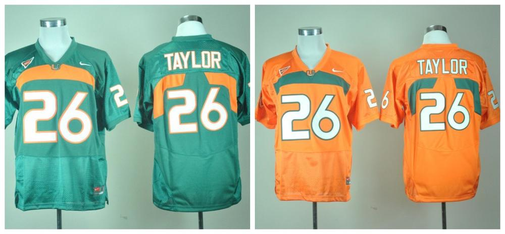 2016 Throwback 100% Stitched Miami Hurricanes Sean Taylor 26 College(China (Mainland))