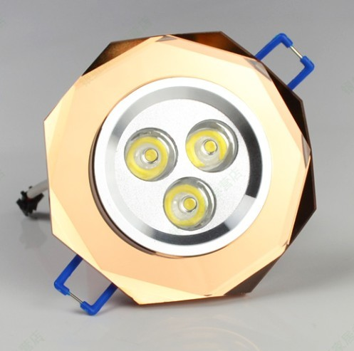 Led ceiling light 3w crystal ceiling light downlight spotlights<br><br>Aliexpress
